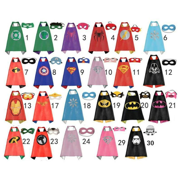 Kids Superhero Cape and Mask Set