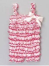 Toddler Hot Pink/Light Pink Romper