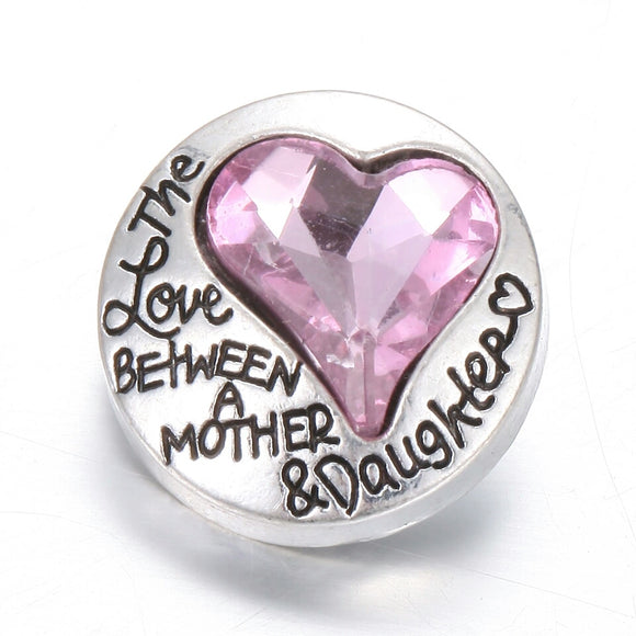The love between mother & daughter 18mm Snap Button