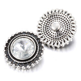 Rhinestone 18mm Metal Snap Buttons