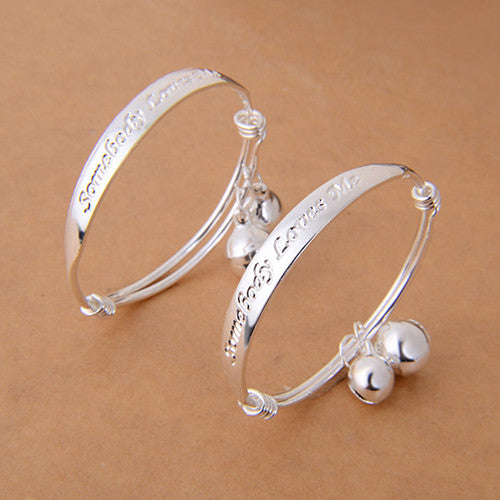 Somebody Loves Me- Baby/Kid Adjustable Bangle