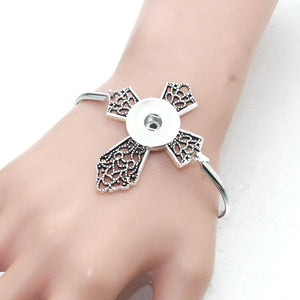 Detachable Snap Button Cross Bracelet