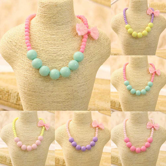 Little Girl Bubblegum Bead Necklace