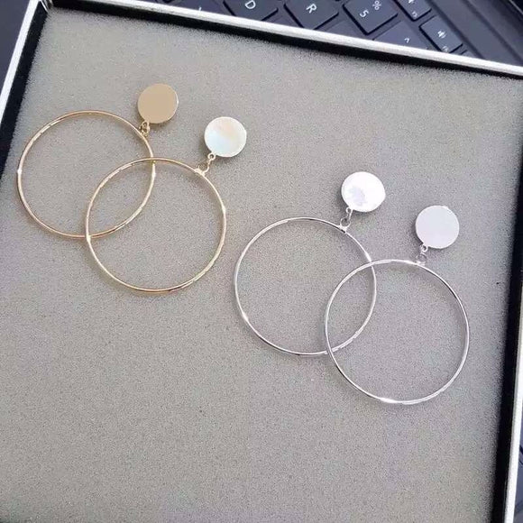 Circle Blank Earrings