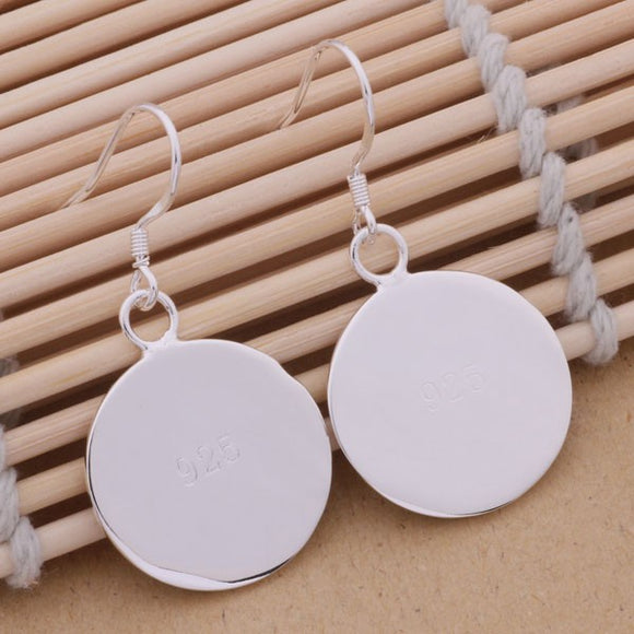 Sterling Silver Plated Blank Earrings