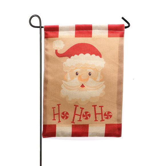 Burlap Christmas Garden Flags