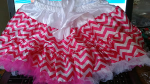 Toddler Hot Pink Chevron Skirt