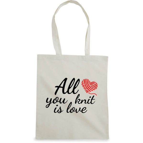 All you knit is love handlenett natur