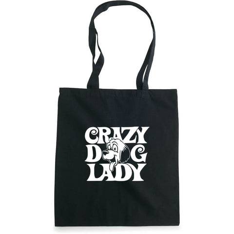 Crazy dog lady handlenett sort