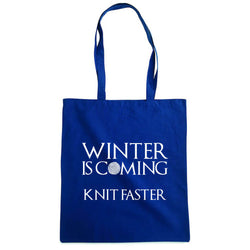 Winter is coming knit faster handlenett marine