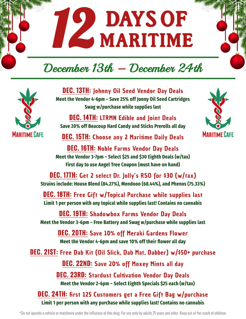 12 Days of Maritime Deals