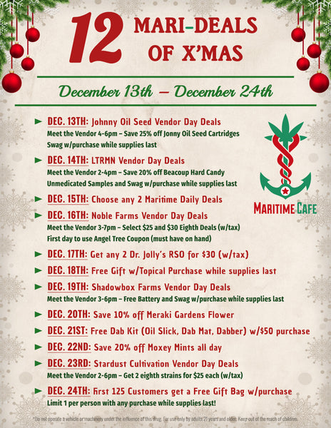 12 Mari-Deals of X'mas