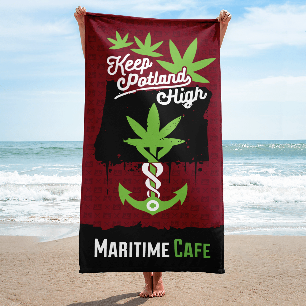 Maritime Keep Potland High Towel (Maroon)
