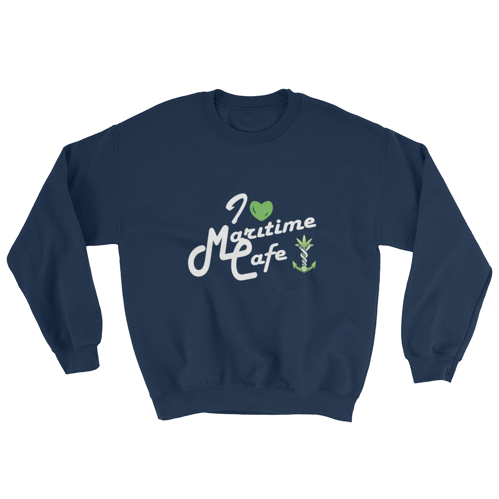 I 💚 Maritime Cafe Crewneck Sweater