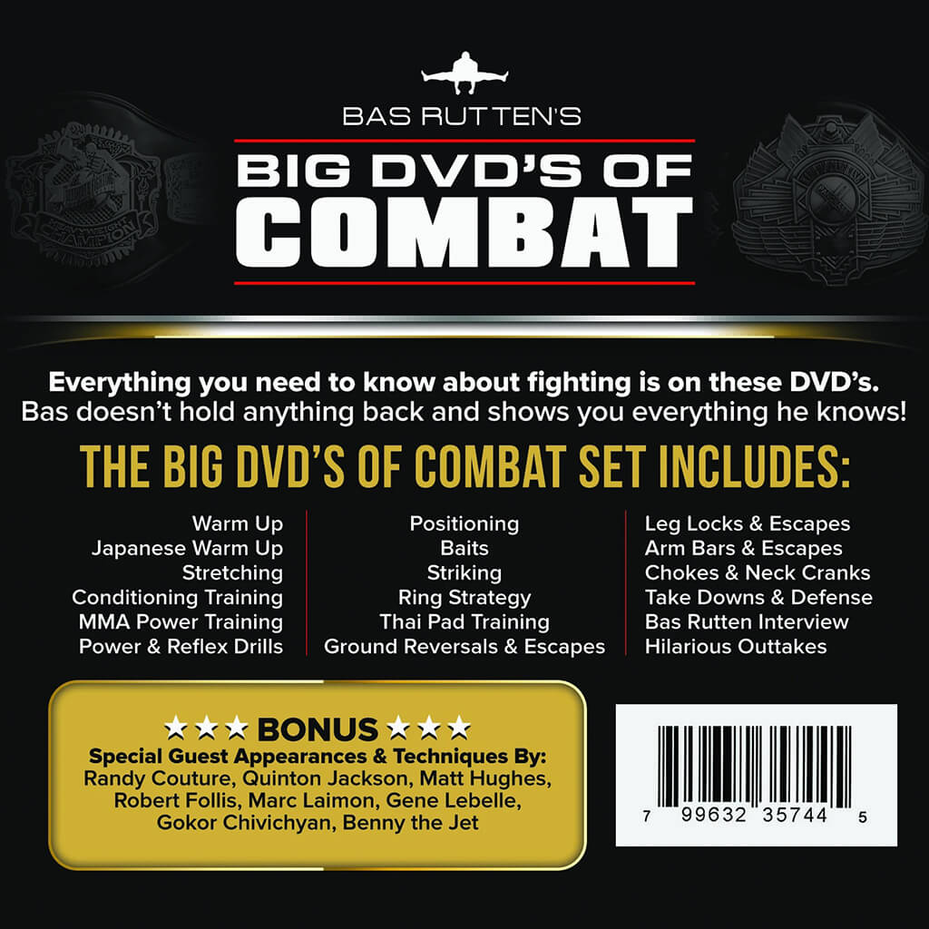Bas Rutten's Big DVD's of Combat (Complete 7 DVD Set)