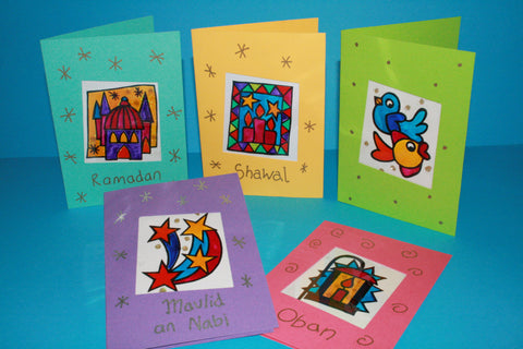 'Glass' Painted Religious Festival Cards