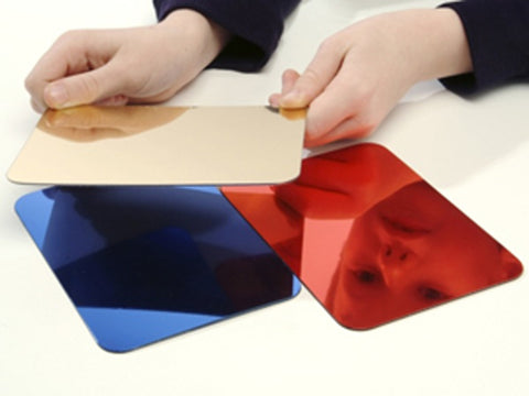 'Super Safe Double Sided Coloured Mirrors