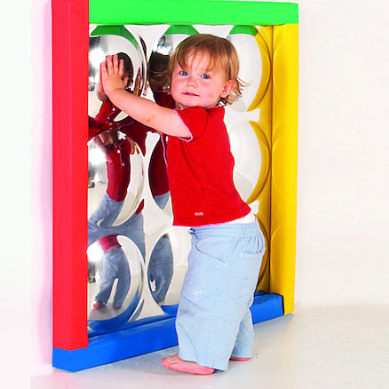 Sensory Bubble Mirror with Padded Frame
