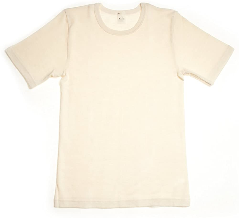 Hocosa Baby Short-Sleeve Shirt, Wool/Silk, Natural