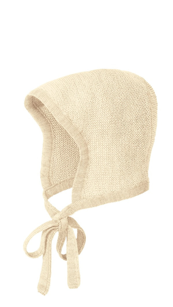 New Disana Baby Bonnet, Knitted Melange Wool