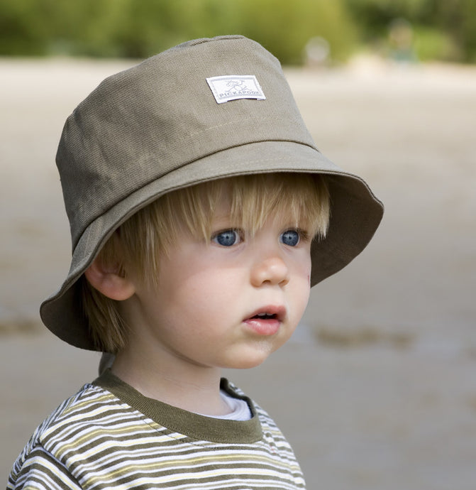 Pickapooh Child Fisherman Sun Hat, Organic Cotton - UV 20 - Fits Babies to Adults