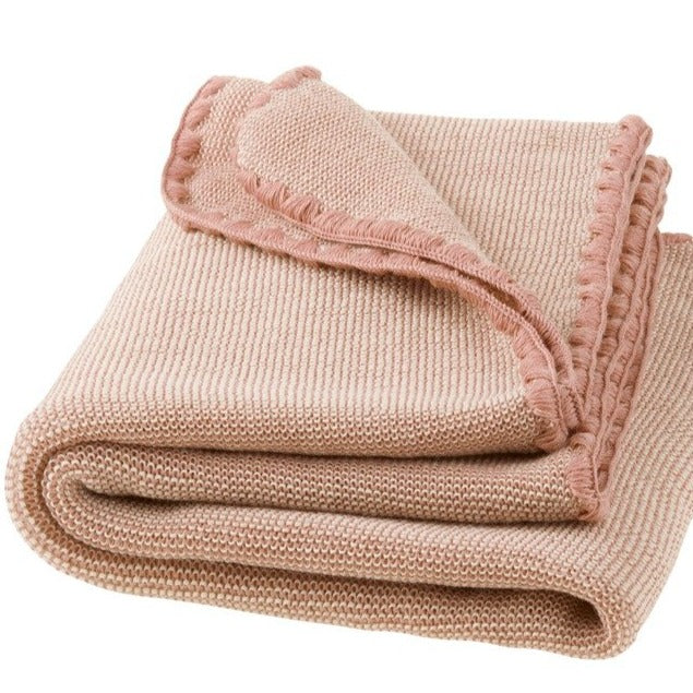 Disana Baby Blanket Melange, Knitted Wool