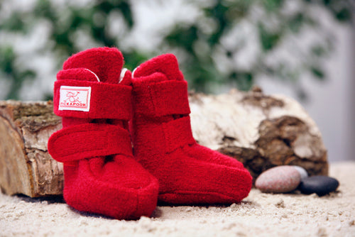 Pickapooh Booties, Boiled Wool