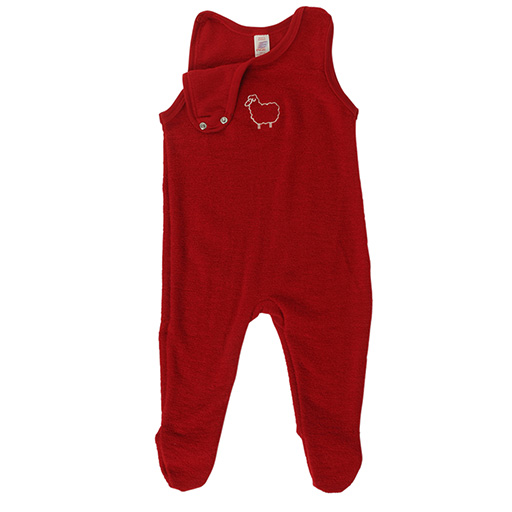 Engel Baby Romper with Feet, Wool Terry