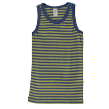 Engel Child Sleeveless Shirt, Wool/Silk, Striped