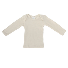 Hocosa Baby Shirt Long Sleeve, Wool, Natural