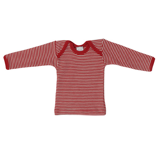 Hocosa Baby Shirt Long Sleeve, Wool, Striped