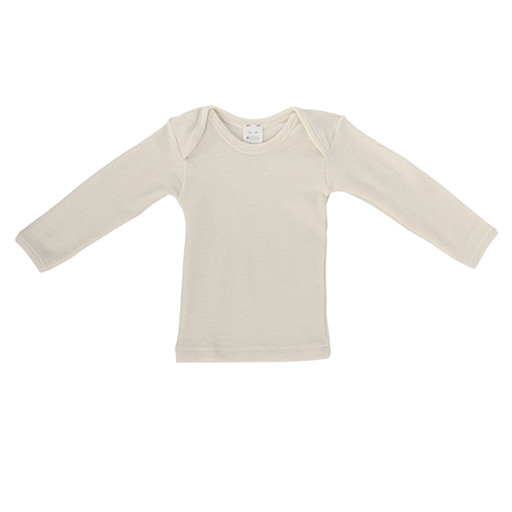 Hocosa Baby Shirt Long Sleeve, Wool/Silk, Natural