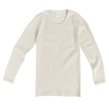 Hocosa Child Long Sleeve Shirt, Wool, Natural