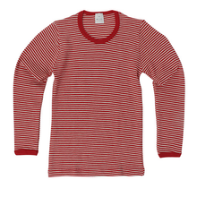 Hocosa Child Long Sleeve Shirt, Merino Wool, Striped - SALE