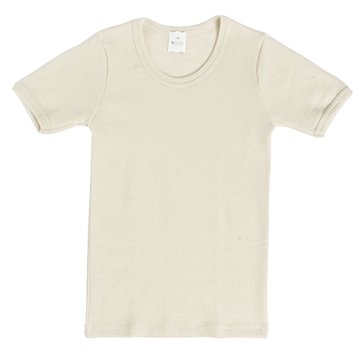 Hocosa Child Short Sleeve Shirt, Wool, Natural