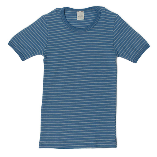 Hocosa Child Short Sleeve Shirt, Wool Striped - SALE