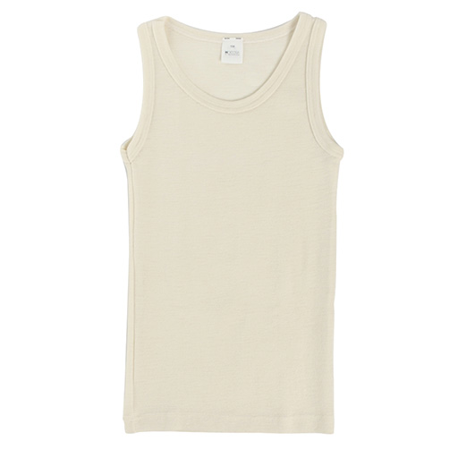 Hocosa Child Sleeveless Shirt, Wool, Natural