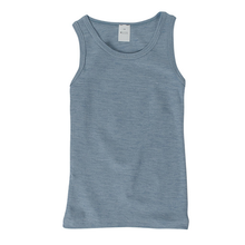 Hocosa Child Sleeveless Shirt, Wool/Silk, Bluejean
