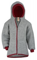 Engel Child Jacket With Hood, Wool Fleece