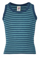 Engel Child Sleeveless Shirt, Wool/Silk Striped