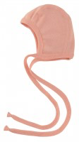 Engel Baby bonnet salmon colour-warmthandweather.ca