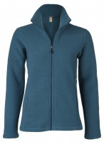 Engel Women Fitted Jacket, Merino Wool Fleece
