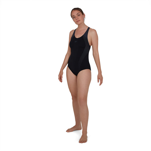 Speedo Placement Laneback Swimsuit