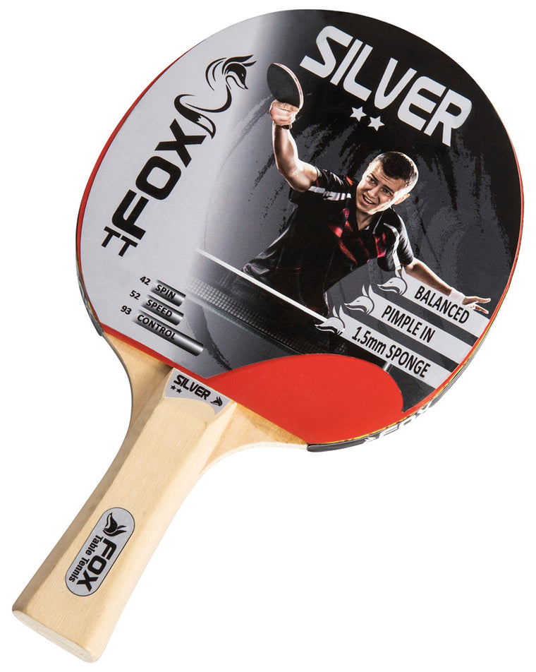 Fox Silver Table Tennis Bat