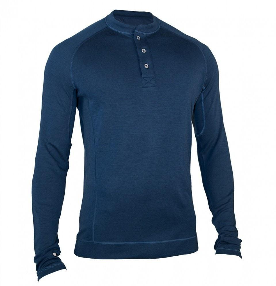 Men's Bamboo-Merino Long Sleeve Henley Shirt