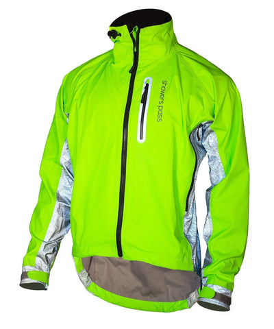 Men's HI-Vis Elite E-Bike Jacket With Red Beacon Lights