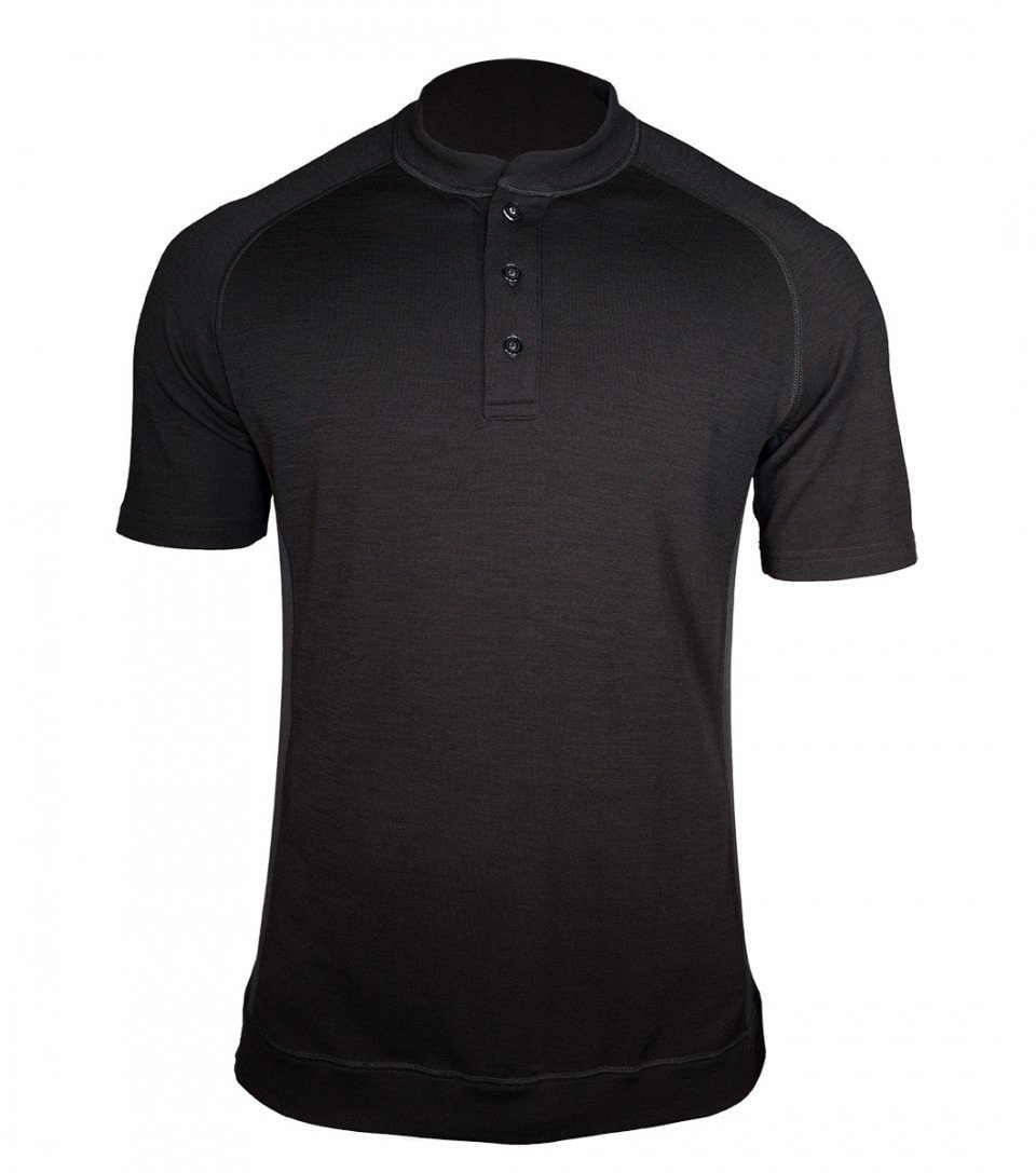 Men's Short Sleeve Bamboo-Merino Henley Shirt