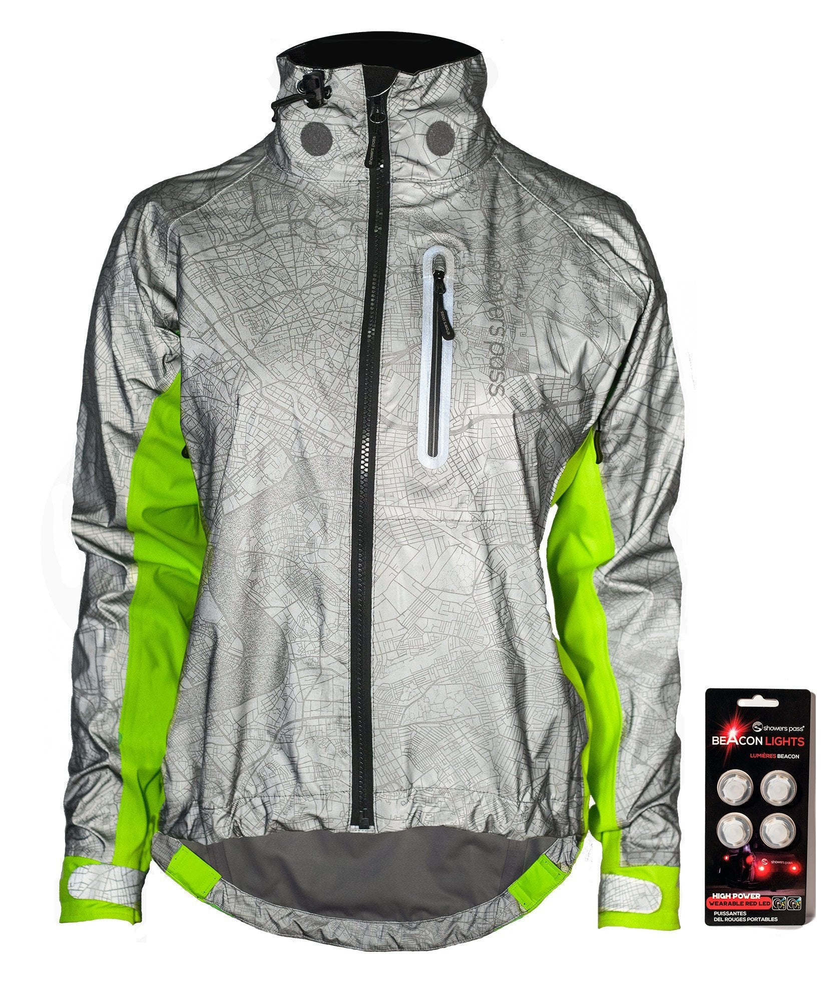 Women's Hi-Vis Torch E-Bike Jacket With Beacon Lights