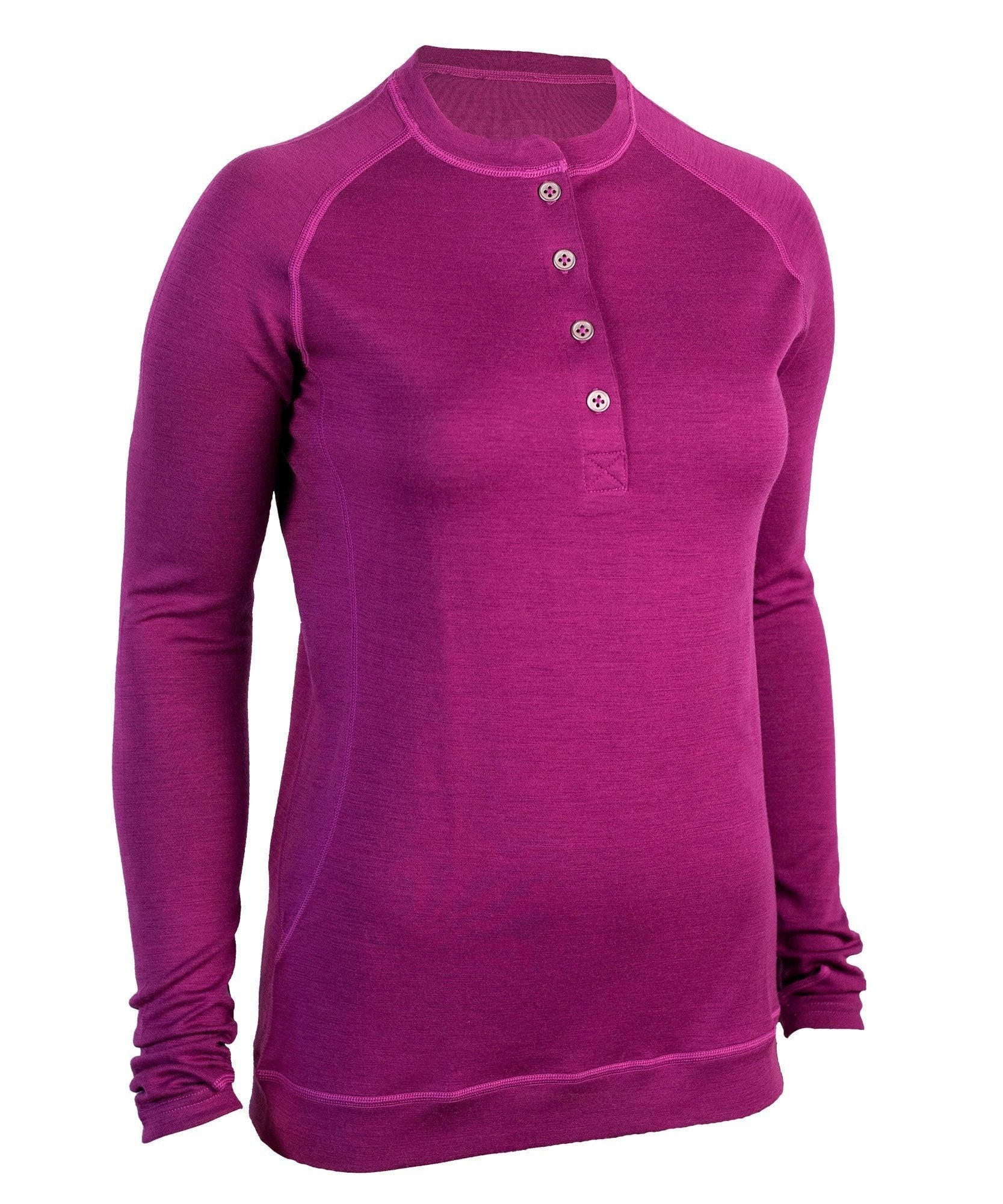 Women's Bamboo-Merino Long Sleeve Henley