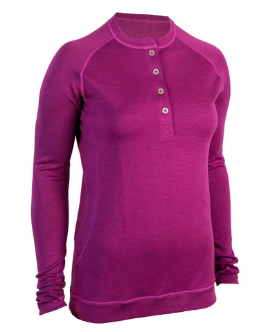 Bamboo-Merino Women's Long Sleeve Henley CA